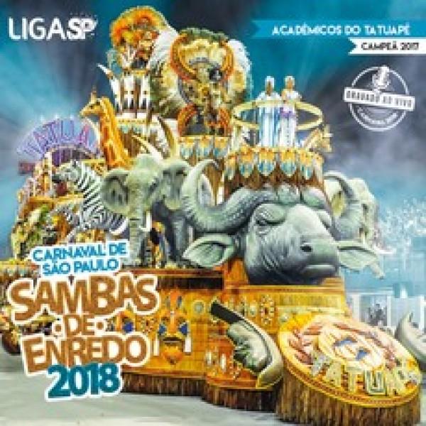 CD Sambas de Enredo Carnaval SP 2018 (DUPLO)