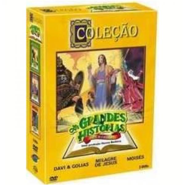 Box As Grandes Histórias da Bíblia (Davi e Golias / Milagres de Jesus / Moisés) (3 DVD's)