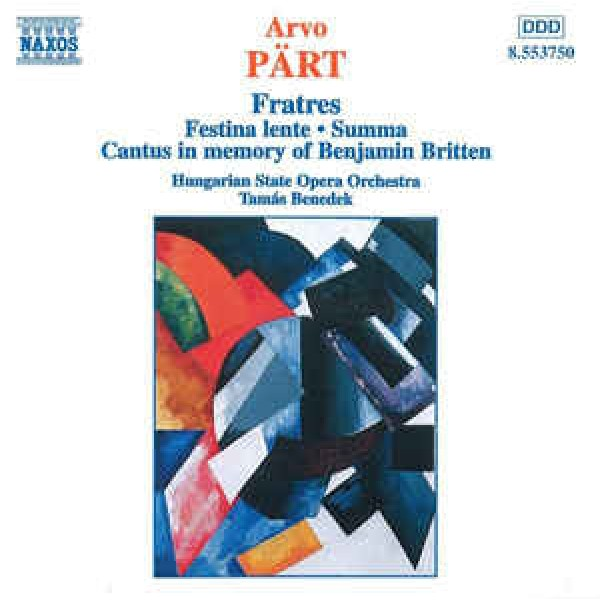 CD Arvo Part/Hungarian State Opera Orchestra - Cantus In Memory Of Benjamin Britten