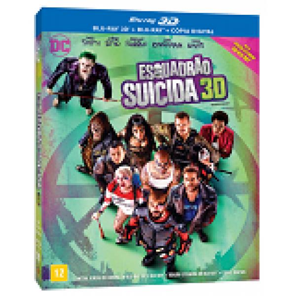 Blu-Ray 3D + Blu-Ray - Esquadrão Suicida