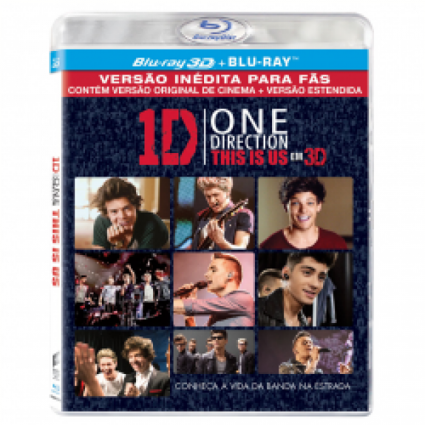 Blu-Ray 3D + Blu-Ray - One Direction - This Is Us