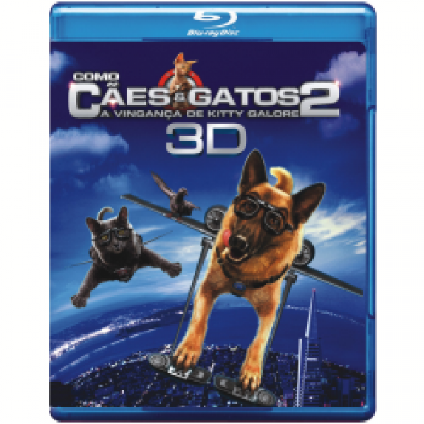 Blu-Ray 3D Como Cães e Gatos 2 - A Vingança de Kitty Galore