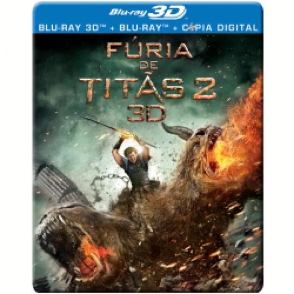 Blu-Ray 3D + Blu-Ray + Cópia Digital - Fúria de Titãs 2