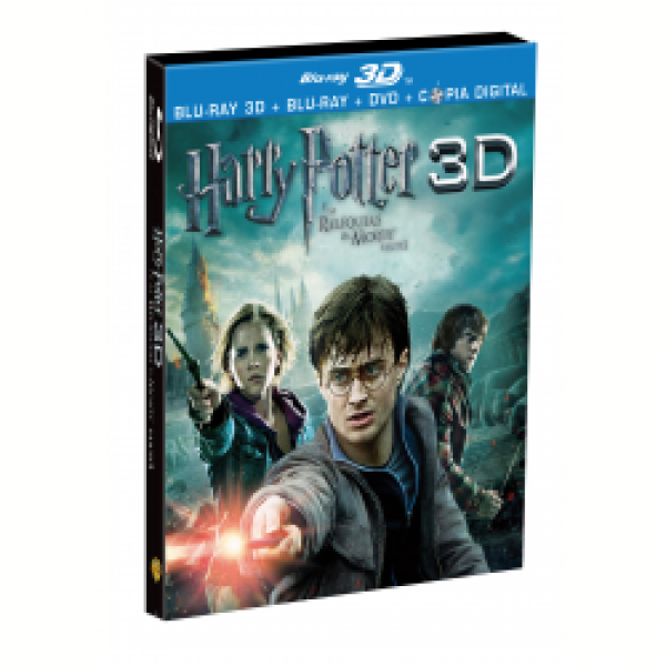 Blu-Ray 3D + Blu-Ray + DVD - Harry Potter e as Relíquias da Morte Parte 2