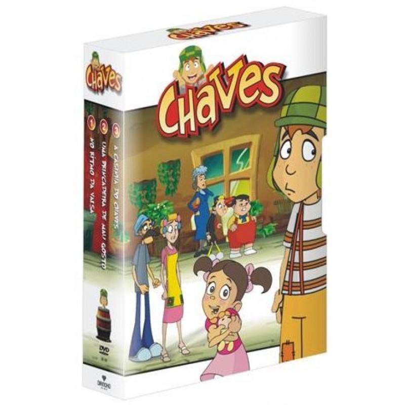 Box Chaves Desenho Animado 3 Dvd S