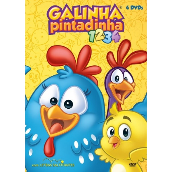 Box Galinha Pintadinha - 1 a 4 (4 DVD's)