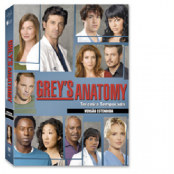 Box Grey's Anatomy - 3ª Temporada Completa (7 DVD's)