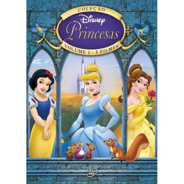 Box Coleção Disney Princesas - Volume 1 - 7 Discos - 5 Filmes