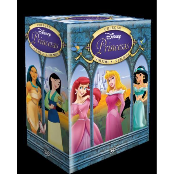 Box Coleção Disney Princesas Volume 2 (5 DVD's)