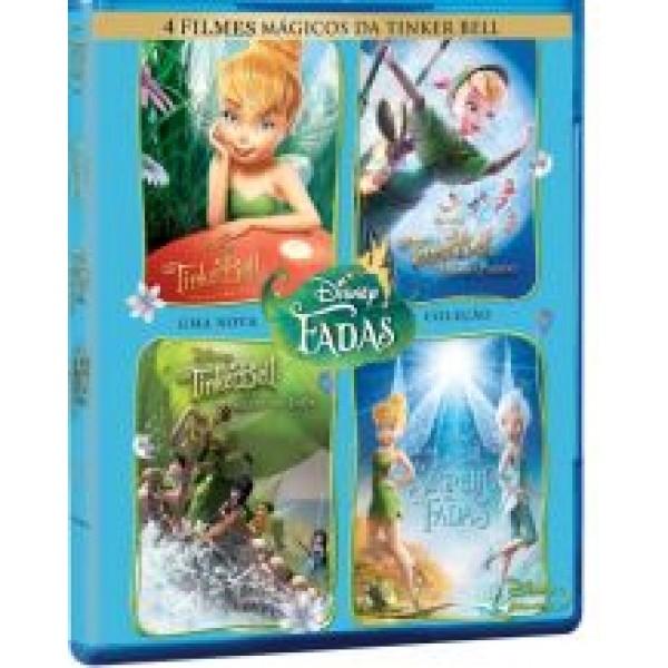 Box 4 Filmes Mágicos da Tinker Bell: Disney Fadas (4 DVD's)